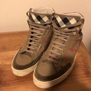 Burberry Mens High Top Sneakers Size 11 eu 44